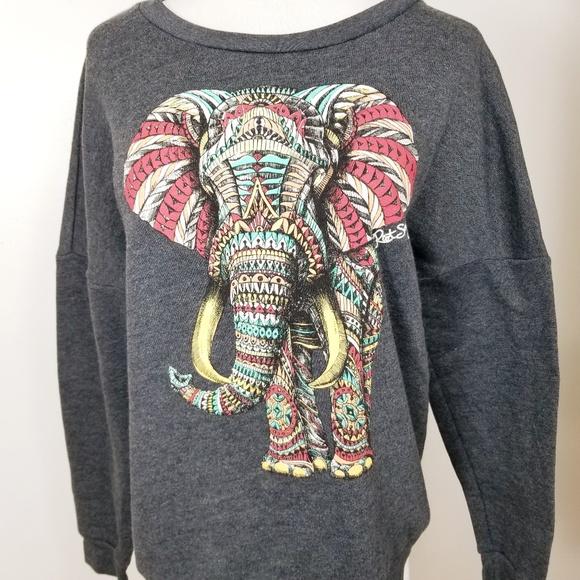 a9049a4a51206 ... Bohemian Elephant Sweatshirt Top. M 5c3df433c9bf50700cd9bb00